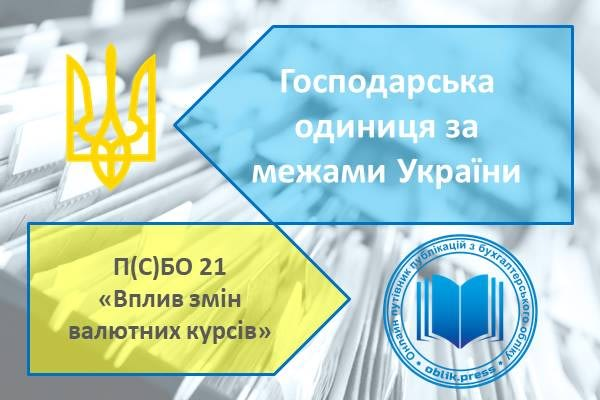 Господарська одиниця за межами України